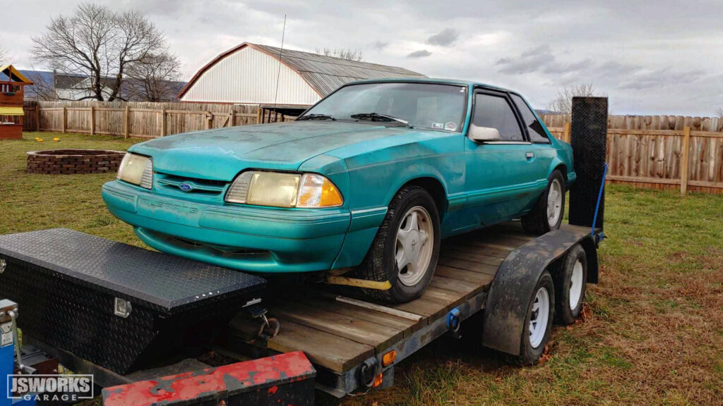 The Jsworks Garage fox-body Mustang project.